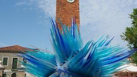 Murano, Βενετία, Ιταλία Το έργο τέχνης κομητών, που γίνεται από glassmakers που βρίσκονται στην πλατεία Santo Stefano φιλμ μικρού μήκους