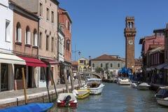 Murano -威尼斯-意大利的海岛 库存照片