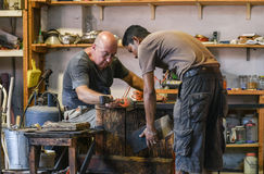 Murano玻璃制造商 免版税图库摄影