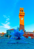 在Murano意大利 库存照片