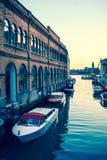 Murano - Boats parking Stock Photo