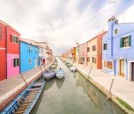 Murano and Burano island, street with glass store Stock Photo