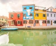 Murano and Burano island, street with glass store Stock Photography