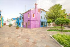 Murano and Burano island, street with glass store Royalty Free Stock Image