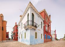 Murano and Burano island, street with glass store Royalty Free Stock Photography