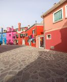 Murano and Burano island, street with glass store Royalty Free Stock Photos