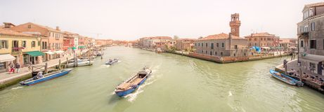 Murano and Burano island, street with glass store Royalty Free Stock Images