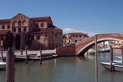 Murano Chiesadei Santi Maria e Donato Italië Royalty-vrije Stock Afbeeldingen