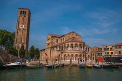 Murano: the Church or cathedral of Santa Maria e San Donato Stock Images