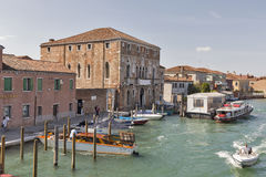 Murano cityscape with Angels Canal, Venice, Italy. Royalty Free Stock Photography