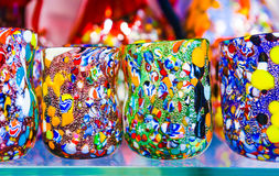 Murano drinking glasses Royalty Free Stock Images