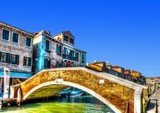 In Murano-eiland dichtbij Venetië in Italië stock foto's