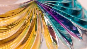Murano exponeringsglasabstrakt begrepp Fotografering för Bildbyråer
