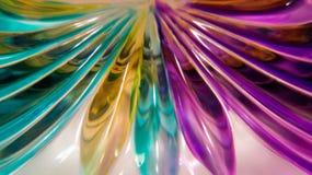 Murano exponeringsglasabstrakt begrepp Arkivbilder