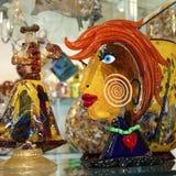 Murano exponeringsglaskonstverk Royaltyfria Bilder
