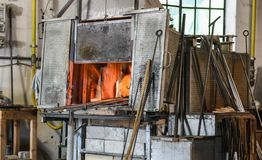 Murano Giant Furnace Stock Images