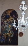 Murano Glass Chandelier in a Church Stock Photography