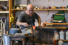 Murano Glass maker Royalty Free Stock Image