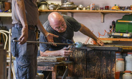 Murano Glass maker Stock Image