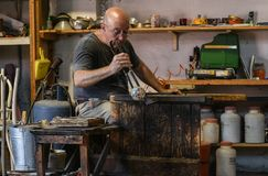 Murano Glass maker Royalty Free Stock Images