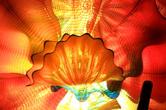 Murano glass roof. Abstract colorful glass roof design stock images