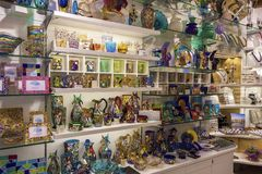 Murano glass shop Stock Photography