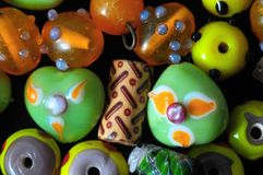 Murano Glass Stones. Ready to Make Handmade Jewelry Royalty Free Stock Images