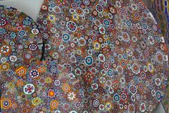 Murano glass texturbakgrund abstrakt färgrik modell Royaltyfria Foton