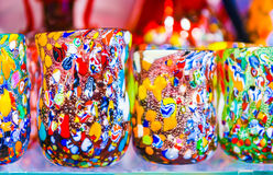 Murano het drinken glazen stock foto