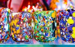 Murano het drinken glazen Royalty-vrije Stock Afbeeldingen
