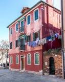 Murano Home_Laundry_Red dom fotografia stock