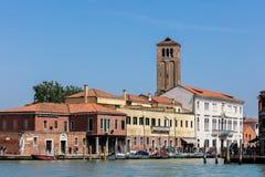 Murano island and the Church of Santa Maria e San Donato. Stock Images