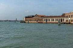 Murano island glass workshop - view from the lagoon Venice Royalty Free Stock Photo