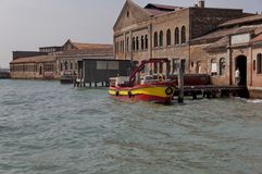 Murano island glass workshop - view from the lagoon Royalty Free Stock Photo
