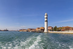 Murano Island and the lighthouse on the island Stock Image