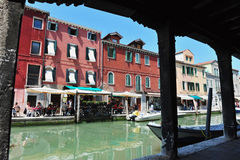 Murano Island in the Venetian Lagoon, Italy Stock Image