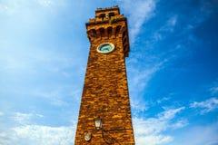 MURANO, ITALIE - 19 AOÛT 2016 : Monuments architecturaux célèbres et façades colorées de vieux bâtiments médiévaux en gros plan Photographie stock libre de droits
