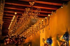 MURANO ITALIEN - AUGUSTI 19, 2016: Berömt traditionellt glass konstobjekt i gammal stad av den Murano önärbilden på Augusti 19, 2 Arkivbild