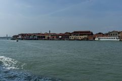 Murano,  Italy, a small island near Venice, famous for blown glass. Royalty Free Stock Images
