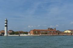 Murano,  Italy, small island near Venice, famous for blown glass. Royalty Free Stock Image