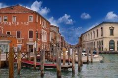 Murano kanał pod mostem zdjęcie royalty free