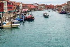 Murano kanal royaltyfria bilder