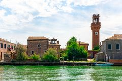 Murano, la isla del vidrio en Venecia foto de archivo