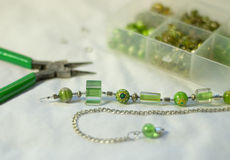 Murano, lampwork, and cane glass necklace  Royalty Free Stock Photo