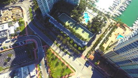 Murano Miami Beach aerial video Stock Images