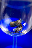 Murano ring in glass Royalty Free Stock Image