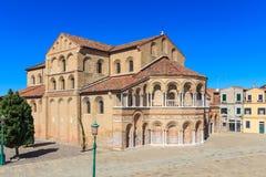 Murano Santa Maria Cathedral, Venedig Royaltyfri Fotografi