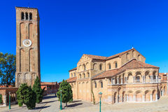 Murano Santa Maria Cathedral, Venedig Arkivfoto