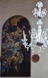 Murano Szklany świecznik w kościół fotografia stock