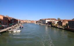 Murano, VE, Italy - July 19, 2016: Many navigable Canal. In the Island near Venice Royalty Free Stock Photo